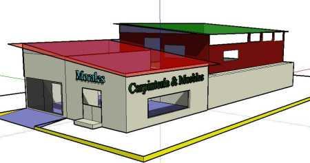 Fachada en 3D del nuevo edificio de Lolo Morales