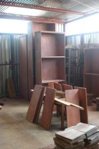 Libreros antes del acabado final