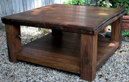 Rugged Two-Tier Coffee Table