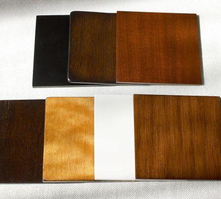Tenemos toda la gama completa de colores naturales de la madera